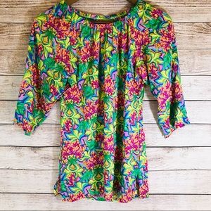 Beautiful Bright Floral Top XS